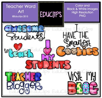Teacher Fun Pack Clip Art Bundle {Educlips Clipart}