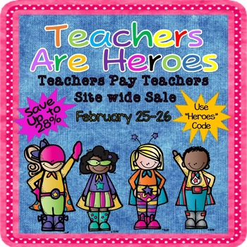 Teachers Are Heroes Sale Banner