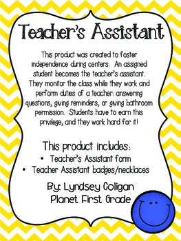 Teacher's Assistant: Promoting Independence in the Classroom