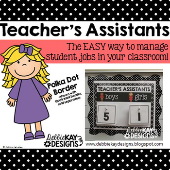Teachers Assistants Job Chart - Polka Dot
