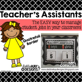 Teachers Assistants Job Chart - Quatrefoil