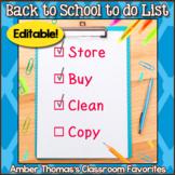 Teacher's Back to School to do List