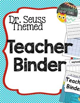 Dr Seuss Theme {Teachers Binder}