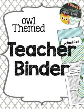 Owl Theme {Teachers Binder}
