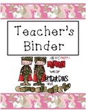 Teachers Binder Pink Camo