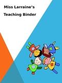 Teacher's Binder Cover