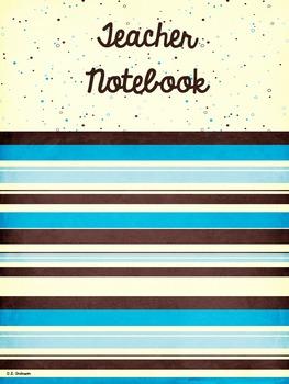Editable Teacher's Binder (Notebook) in Blue