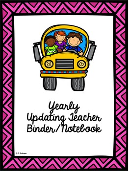 Editable Teacher's Binder (Notebook) in Pink