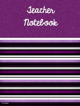 Editable Teacher's Binder (Notebook) in Purple