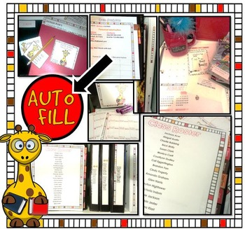 THE ULTIMATE TEACHER BINDER- AUTO FILL & EDITABLE