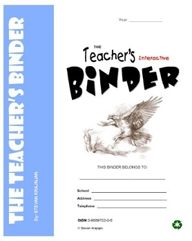 TEACHER'S BINDER: interactive, printable, useful classroom forms, worksheets