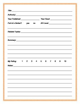 Teacher's Book Log