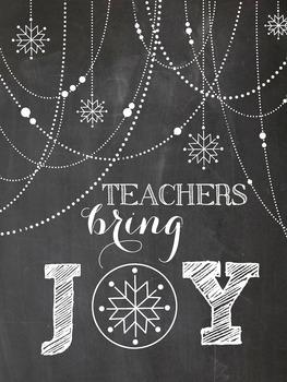 Teachers Bring JOY poster - Christmas gift