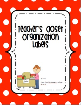 Teacher's Cabinet Organization Labels