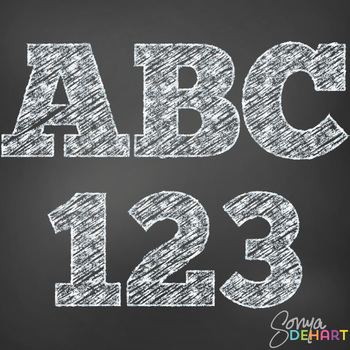 Alphabet - Teachers Chalk Clipart