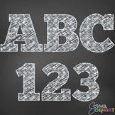 Alphabet - Teachers Chalk Clipart