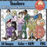 Teachers' Clip Art {FREE for Teacher appreciation week}