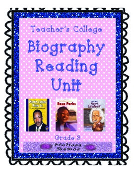 Teacher's College Biography Reading Unit Supplements for 3rd Grade