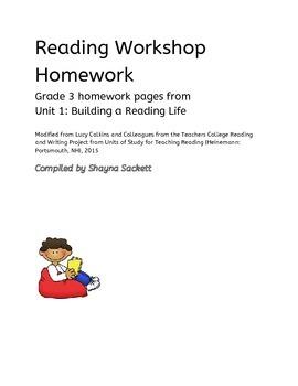 Teachers College - Building a Reading Life Grade 3 Homework