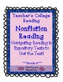 Teachers College Nonfiction Reading Unit Supplements for 3