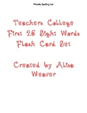 Teacher's College Sight Words Flash Cards for Kindergarten