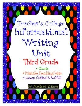 Teacher's College Informational Writing Unit Supplements for 3rd Grade