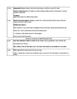 Teachers College Unit 3 Information Lesson 3