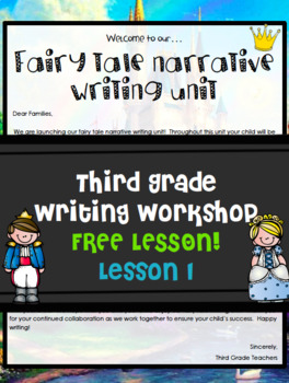 Teachers College Writing Workshop Fairy Tales FREEBIE Grade 3