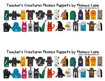 Teacher's Creatures Alphabet Strip