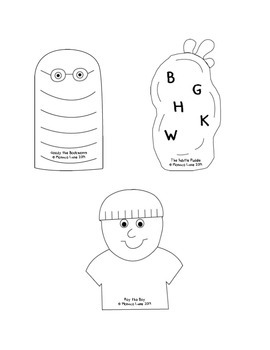 Teacher's Creatures Chunk Puppets (Student Set to Color and Take Home)
