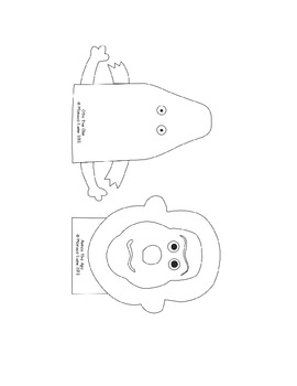 Teacher's Creatures Long Vowel Puppets (Student Set to Color and Take Home)