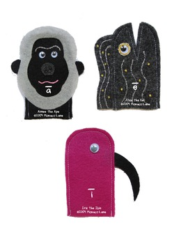 Teachers Creatures Long Vowel Puppets (Teacher Set with Stories and Motions)