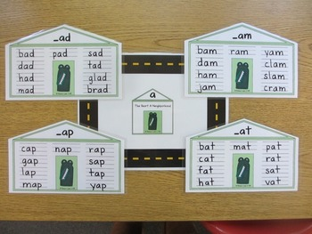 Teacher's Creatures Short Vowel Neighborhoods (Laminated Word Family Houses)