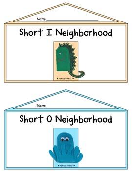 Teacher's Creatures Short Vowel Neighborhoods (Short Vowel Word Family Houses)