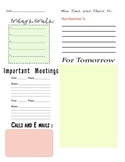 Teachers Daily Plan