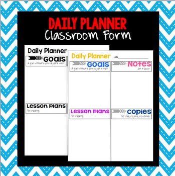 Teacher Daily Planner