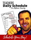 Teachers Daily Schedule for Distance Learning