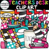 Teachers Desk Clip Art {School Clip Art}