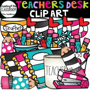 Teachers Desk Clip Art {School Clip Art}