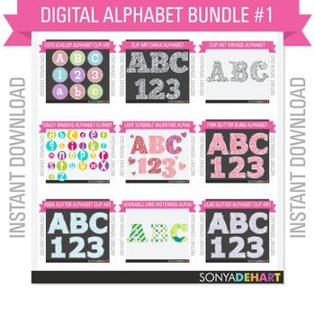 Clip Art Alphabet Bundle Pack #1