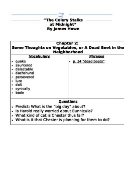 Teacher's Discussion Guide: The Celery Stalks at Midnight by James Howe