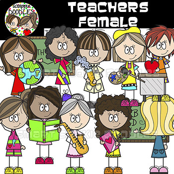 Teachers - Female {School Teacher Clip Art}