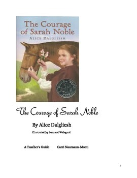 "Teacher's Guide: ""The Courage of Sarah Noble"""