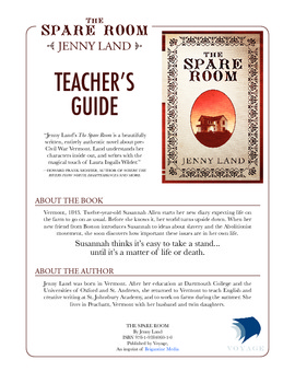 "Teacher's Guide, ""The Spare Room,"" FREE Download!"