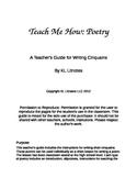 Teacher's Guide for Writing Cinquains