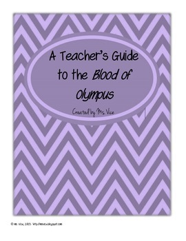 Teacher's Guide for the Blood of Olympus, a novel by Rick Riordan