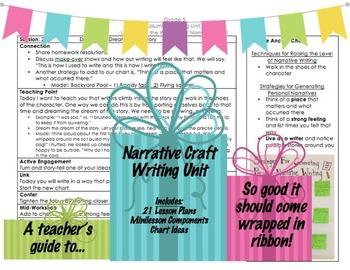 Teacher's Guide to Narrative Craft Writing Unit