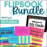 Editable FlipBook Bundle - Class Info, Substitutes, Emergencies