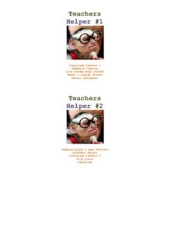Teachers Helpers Lanyard Cards (Monkey or Texas Longhorns Theme!)