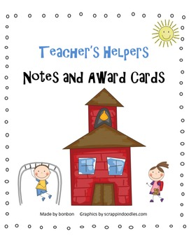 Teacher's Helpers - small awards and note cards